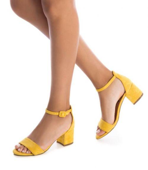 Πέδιλα με κλειστή φτέρνα Refresh  - Κίτρινο