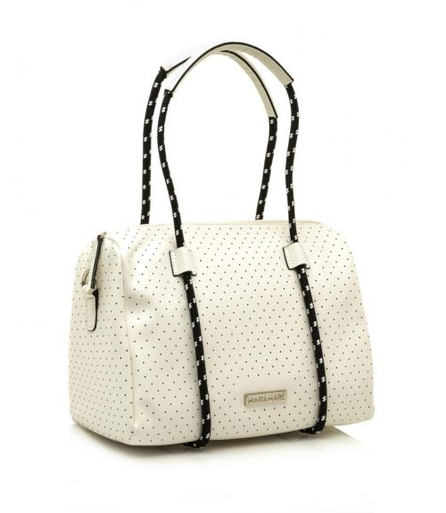 Mariamare τσάντα βαρελάκι Maura - Λευκό