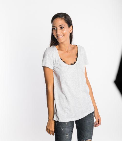 Μπλουζάκι με σχέδιο - Γκρι