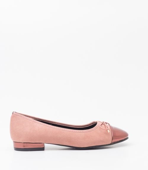 Μπαλαρίνες suede - Ροζ