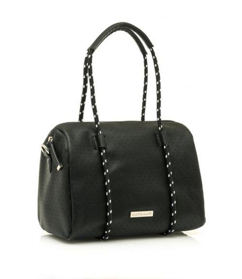 Mariamare τσάντα βαρελάκι Maura - Μαύρο