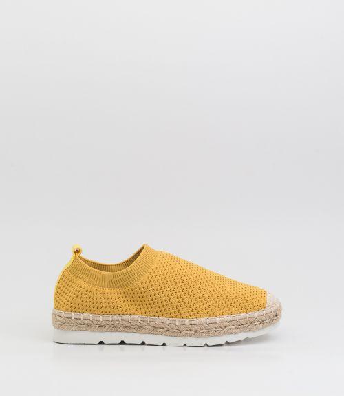Slip-on loafers με σχοινί  - Κίτρινο