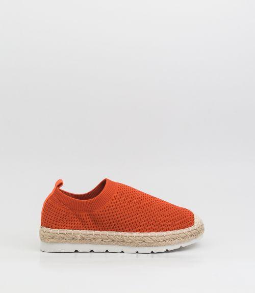 Slip-on loafers με σχοινί  - Πορτοκαλί
