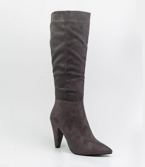 Μπότες suede - Γκρι
