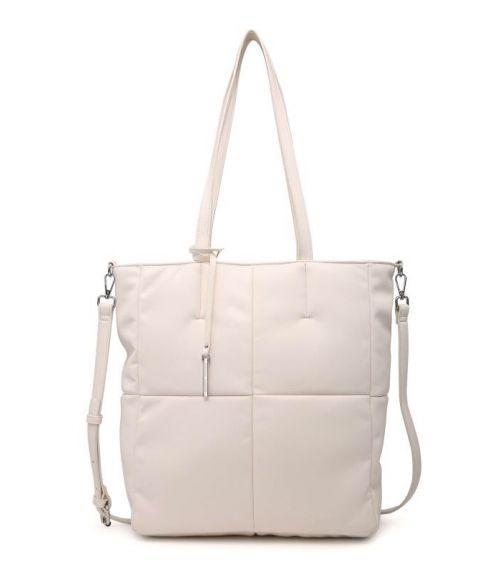 Τσάντα ώμου καπιτονέ - Λευκό