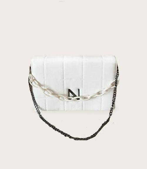 Nora τσάντα με αλυσίδα - Λευκό