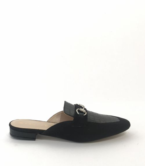 Mules με εγκράφα  - Μαύρο