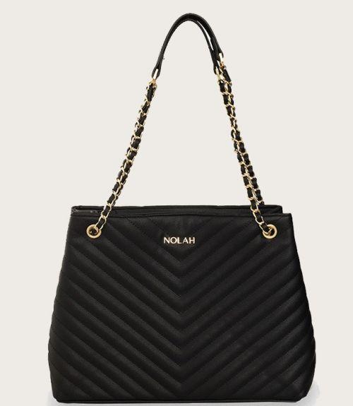 Mellanie τσάντα καπιτονέ - Μαύρο