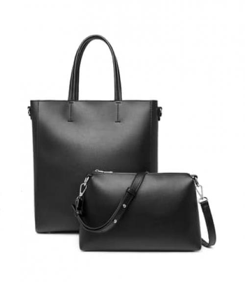 Τσάντα ώμου shopper  - Μαύρο