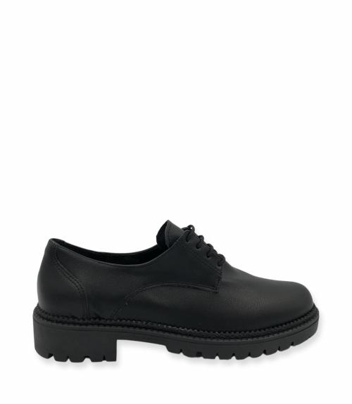 Δετά χαμηλά παπούτσια - Μαύρο