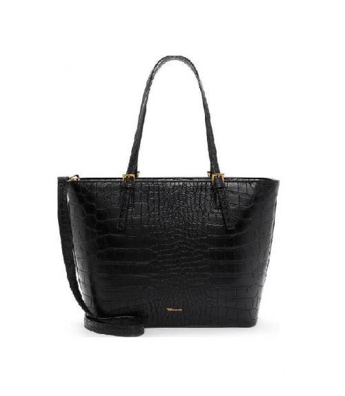 Tamaris κροκό τσάντα - Μαύρο