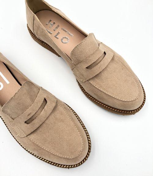 Suede loafers - Μπέζ