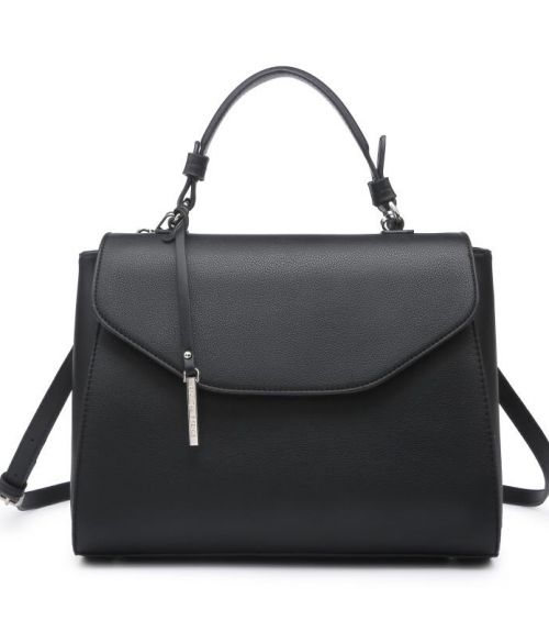 Τσάντα χειρός με μακρύ λουράκι - Μαύρο