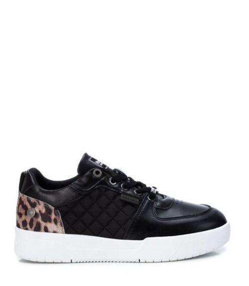 Sneakers χαμηλά με λεοπαρ σχέδιο - Μαύρο