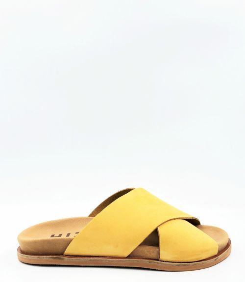Ανατομικές σαγιονάρες χιαστί - Κίτρινο
