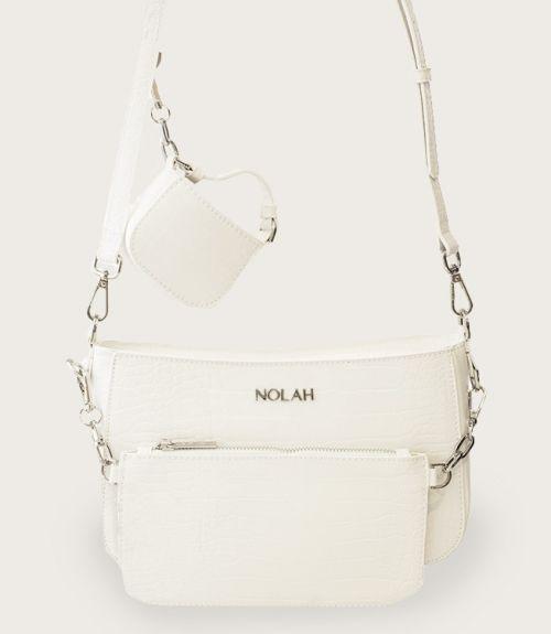 Ella τσάντα με πορτοφολάκι - Λευκό