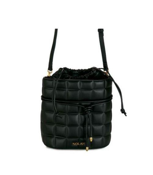 Scarlett καπιτονέ τσάντα πουγκί - Μαύρο