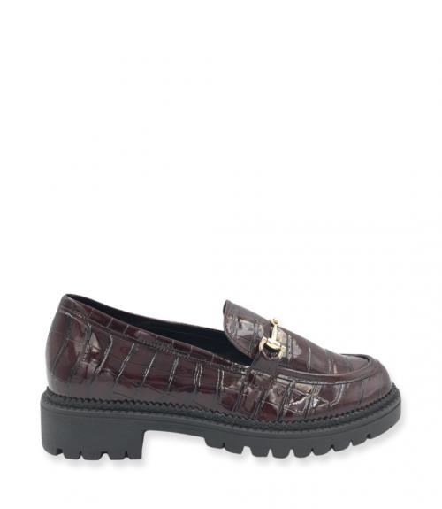 Loafers με εγκράφα - Μπορντό