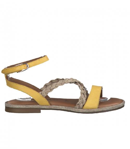 Tamaris σανδάλια με πλεξούδα  - Κίτρινο