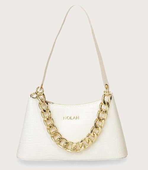 Sienna τσάντα κροκό  - Λευκό