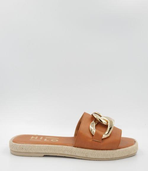 Flat σανδάλια με αλυσίδα  - Ταμπά