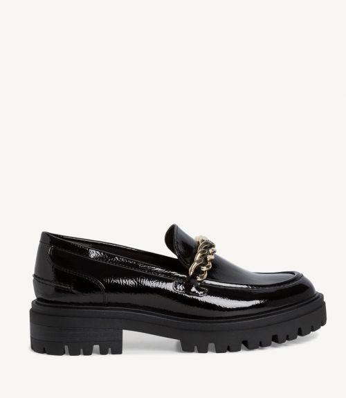 Tamaris loafers με αλυσίδα - Μαύρο