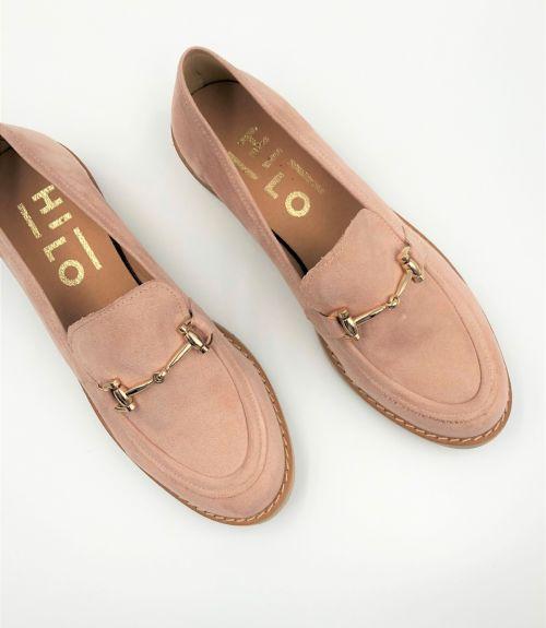 Loafers με εγκράφα - Nude