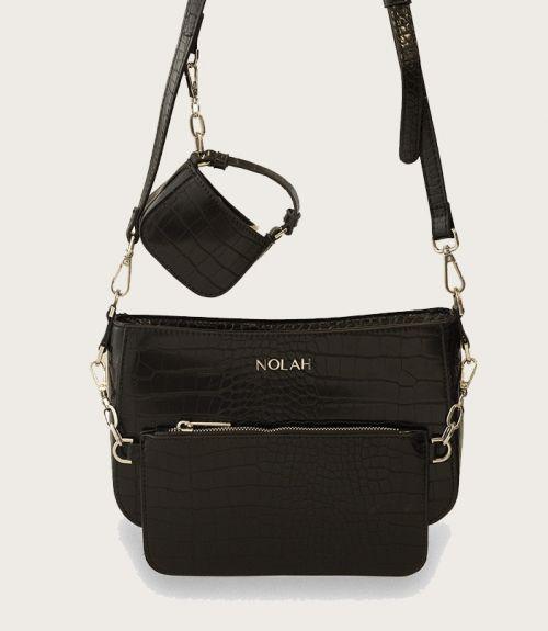 Ella τσάντα με πορτοφολάκι - Μαύρο