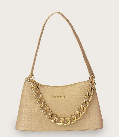 Sienna τσάντα κροκό  - Μπέζ