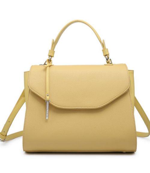 Τσάντα χειρός με μακρύ λουράκι - Κίτρινο