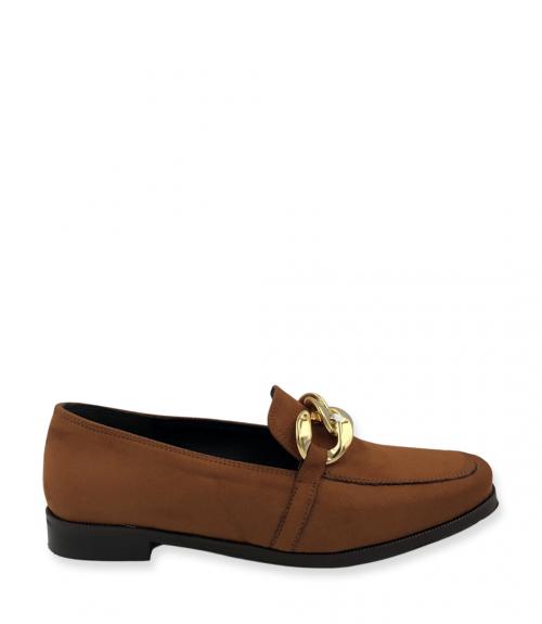 Suede loafers με αλυσίδα - Ταμπά