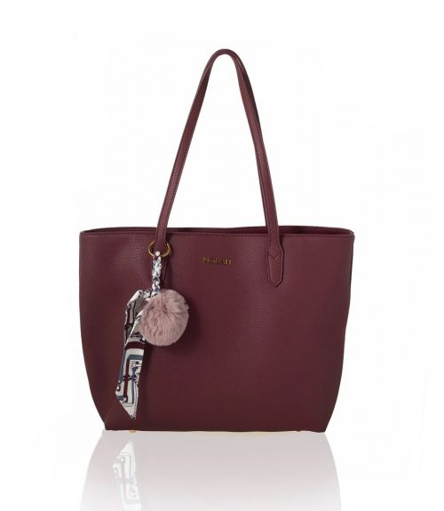 Sarah τσάντα ώμου - Μπορντό