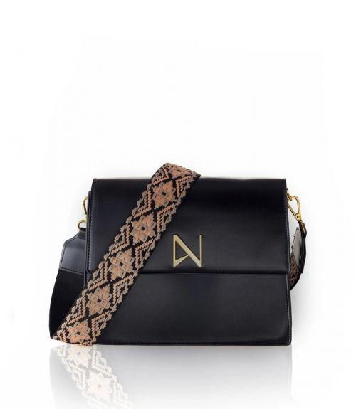Aria τσάντα χιαστί - Μαύρο