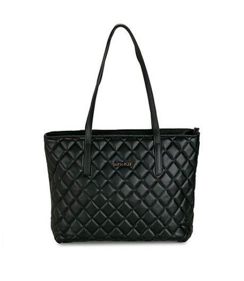 Christine καπιτονέ τσάντα ώμου - Μαύρο
