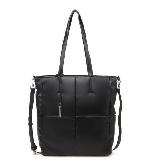 Τσάντα ώμου καπιτονέ - Μαύρο