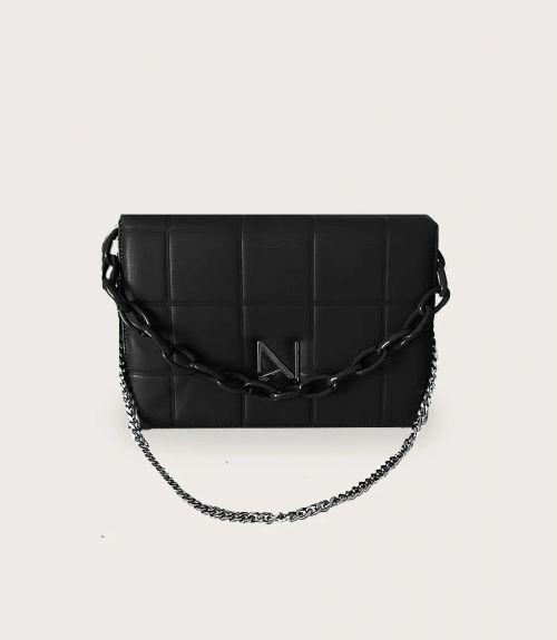 Nora τσάντα με αλυσίδα - Μαύρο