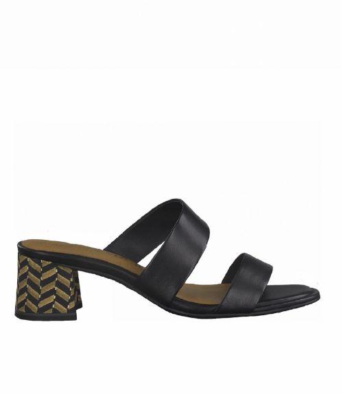 Tamaris mules με τακούνι - Μαύρο
