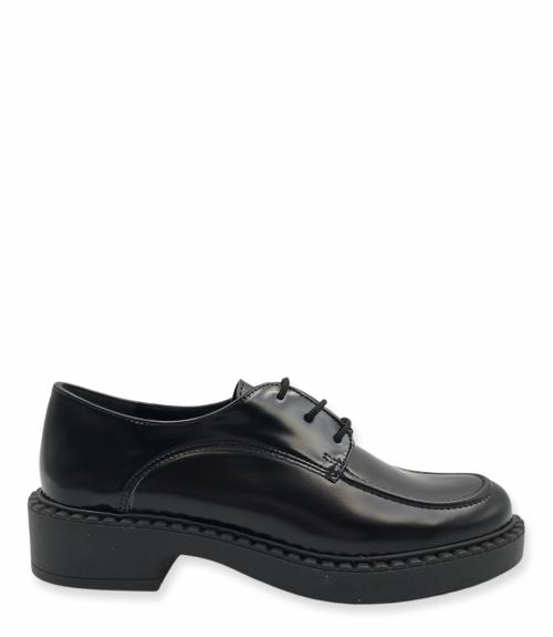 Oxfords με ψηλή σόλα - Μαύρο
