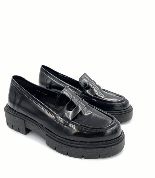 Loafers με τρακτερωτή σόλα  - Μαύρο