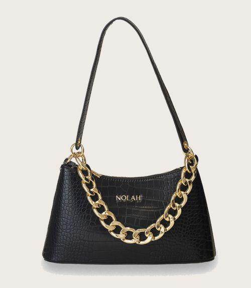 Sienna τσάντα κροκό  - Μαύρο