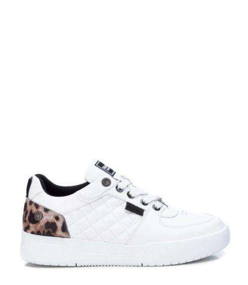 Sneakers χαμηλά με λεοπαρ σχέδιο - Λευκό