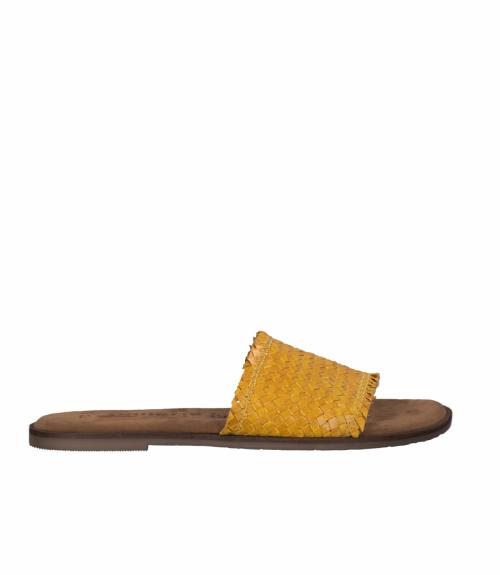 Tamaris δερμάτινα σανδάλια  - Κίτρινο