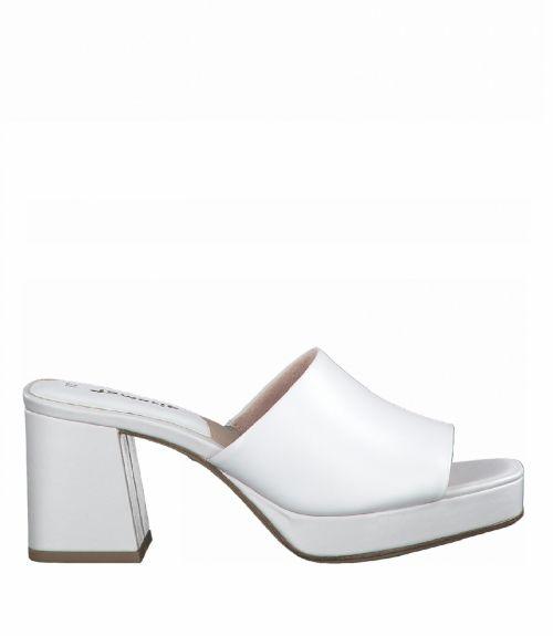 Tamaris mules με φάσα  - Λευκό