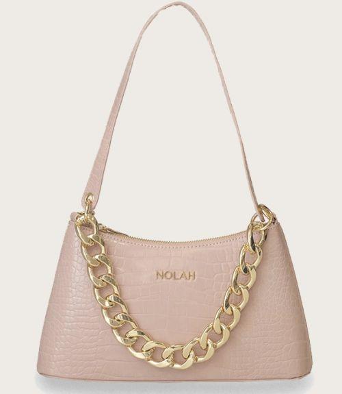 Sienna τσάντα κροκό  - Ροζ