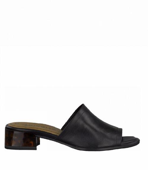 Tamaris mules με χαμηλό τακούνι - Μαύρο
