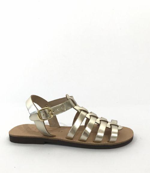Δερμάτινα πέδιλα gladiator - Χρυσό
