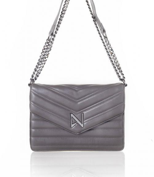 Chiara τσάντα με αλυσίδα - Γκρι