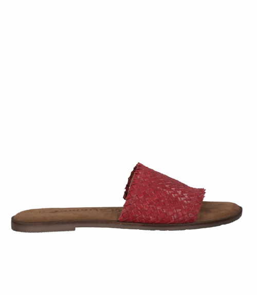 Tamaris δερμάτινα σανδάλια  - Κόκκινο