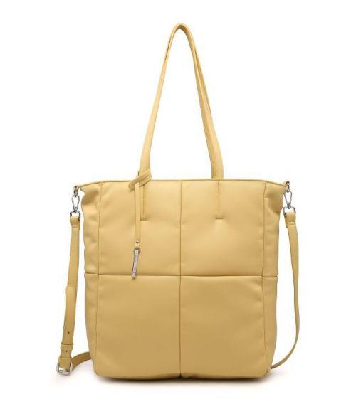 Τσάντα ώμου καπιτονέ - Κίτρινο