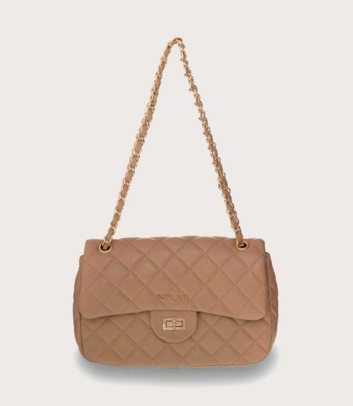 Audrey καπιτονέ τσάντα (small size) - Μπέζ